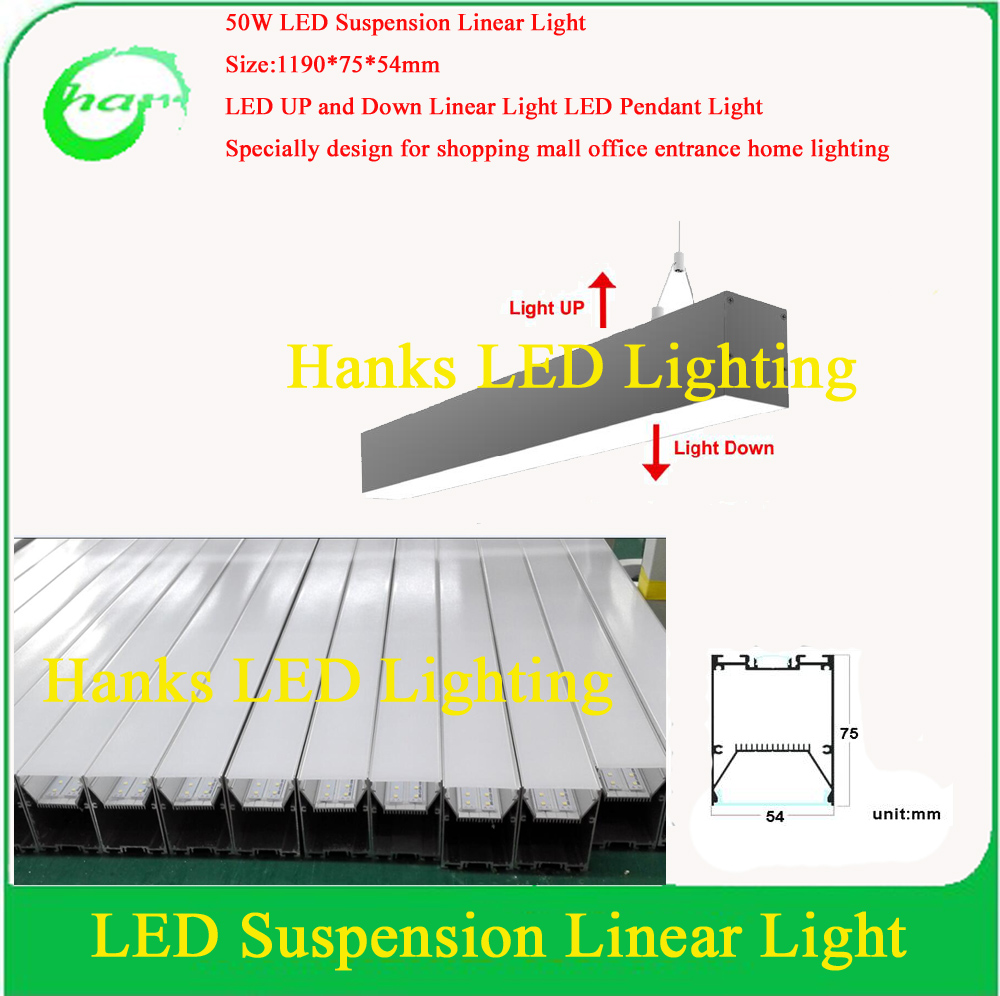 buy ip40 4ft led suspension linear light 50w led up and down pendant light non. Black Bedroom Furniture Sets. Home Design Ideas