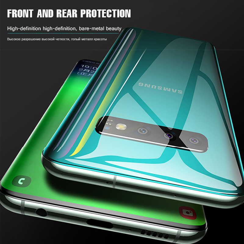 15D Curved Hydrogel Soft Film For Samsung Galaxy S10E S8 S9 S10 PLus Full Screen Protector Note 8 9 10 Protective Film Not Glass