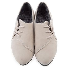 Elegrant Women Flats Shoes Lace Up Round Toe Suede Leather Women Casual Flat Shoes Solid Color Spring Summer Casual Shoes