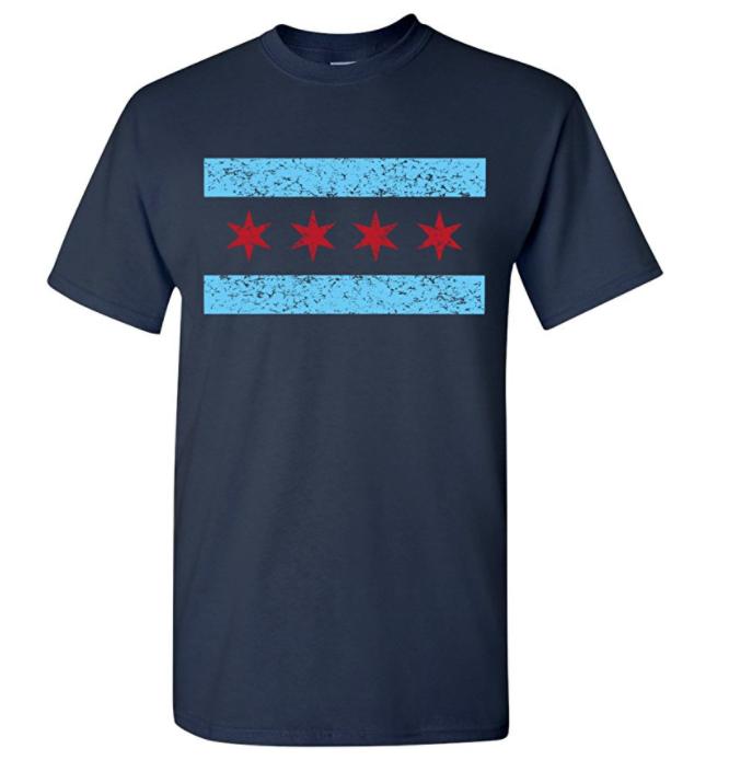Strange Cargo Mens Chicago Flag Pride T-shirt I100F