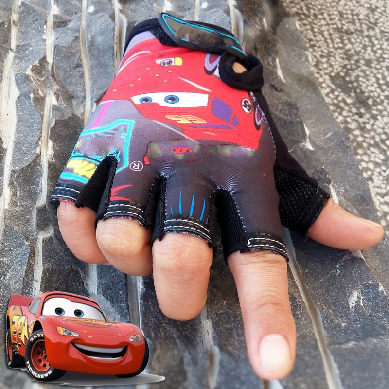 Outdoor Children Half Finger Glove Riding Mountain bike short refers to sunscreen non-slip gloves equipment mountain bike short finger riding gloves shock absorption and wear resistance riding