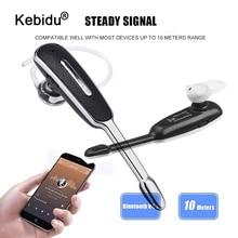 Mini Ear Hook Business Bluetooth Earphone Wireless Headset Earphone with Mic Handsfree Stereo Sports Headphone Car Earbud Kit