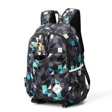 Nylon Men Travel Backpack USB Charging Student Waterproof Escolar Mochila Quality Brand Color Laptop Bag Women School Backpack xiyuan backpack student college waterproof nylon backpack men women material escolar mochila quality brand laptop bag backpack