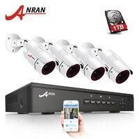 ANRAN P2P Plug And Play 1080P HD H 264 4CH POE NVR 36 IR Day Night
