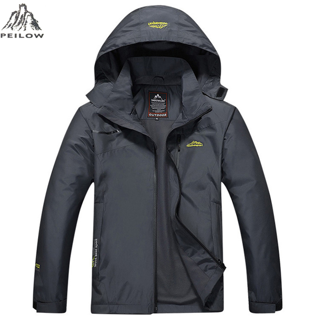 PEILOW Casual coat Men women Spring Autumn military Waterproof Windbreaker Jackets Male Breathable Tactical embroidery overcoat