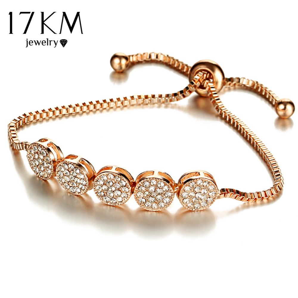 17 KM New Fashion Gelang Adjustable Untuk Wanita Pulseras Mujer Pesta - Perhiasan fashion - Foto 6