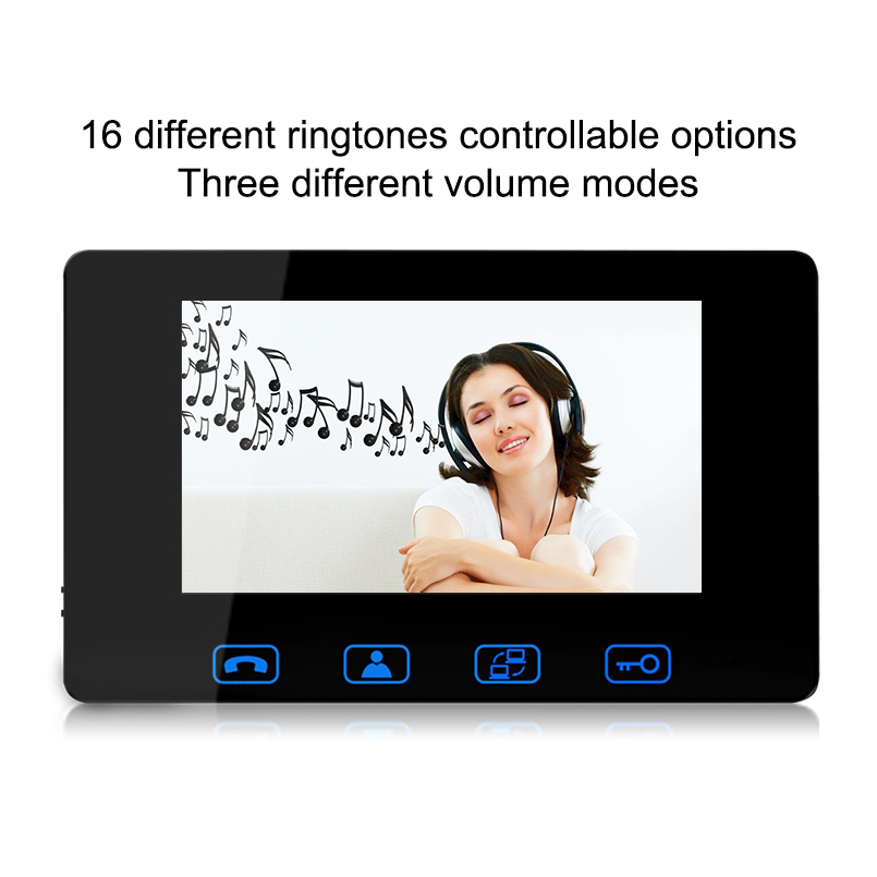 Saful 7 inch Indoor Monitor Video Door Phone Doorbell Intercom System Video Recording Photo Taking Wall Mounting top quality jeruan home security system 2 outdoor 1 indoor with recording photo taking 8 inch video door phone doorbell intercom system