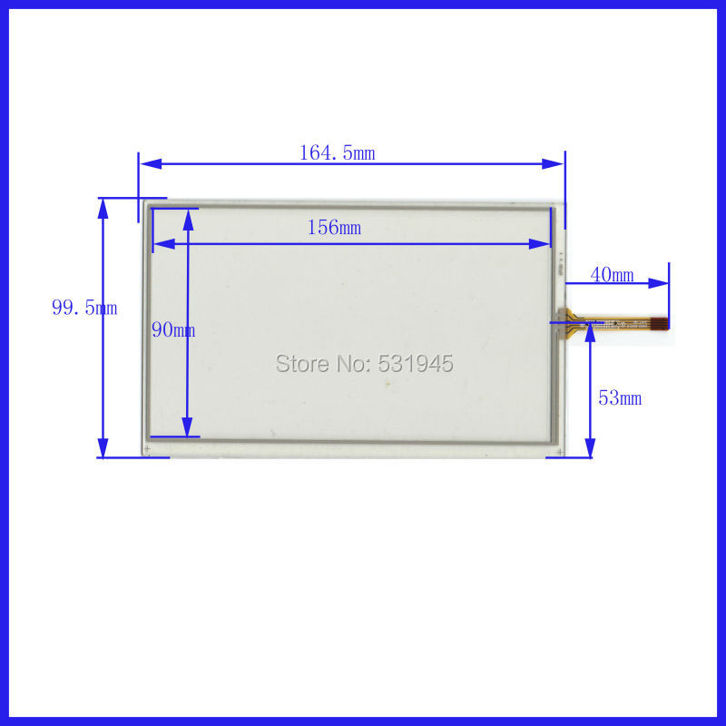 POST 7 inch 4-wire resistive Touch Panel   XWT90 164.5*99.5 compatible Navigator TOUCH SCREEN  164.5mm*99.5mm GLASS LCD  display