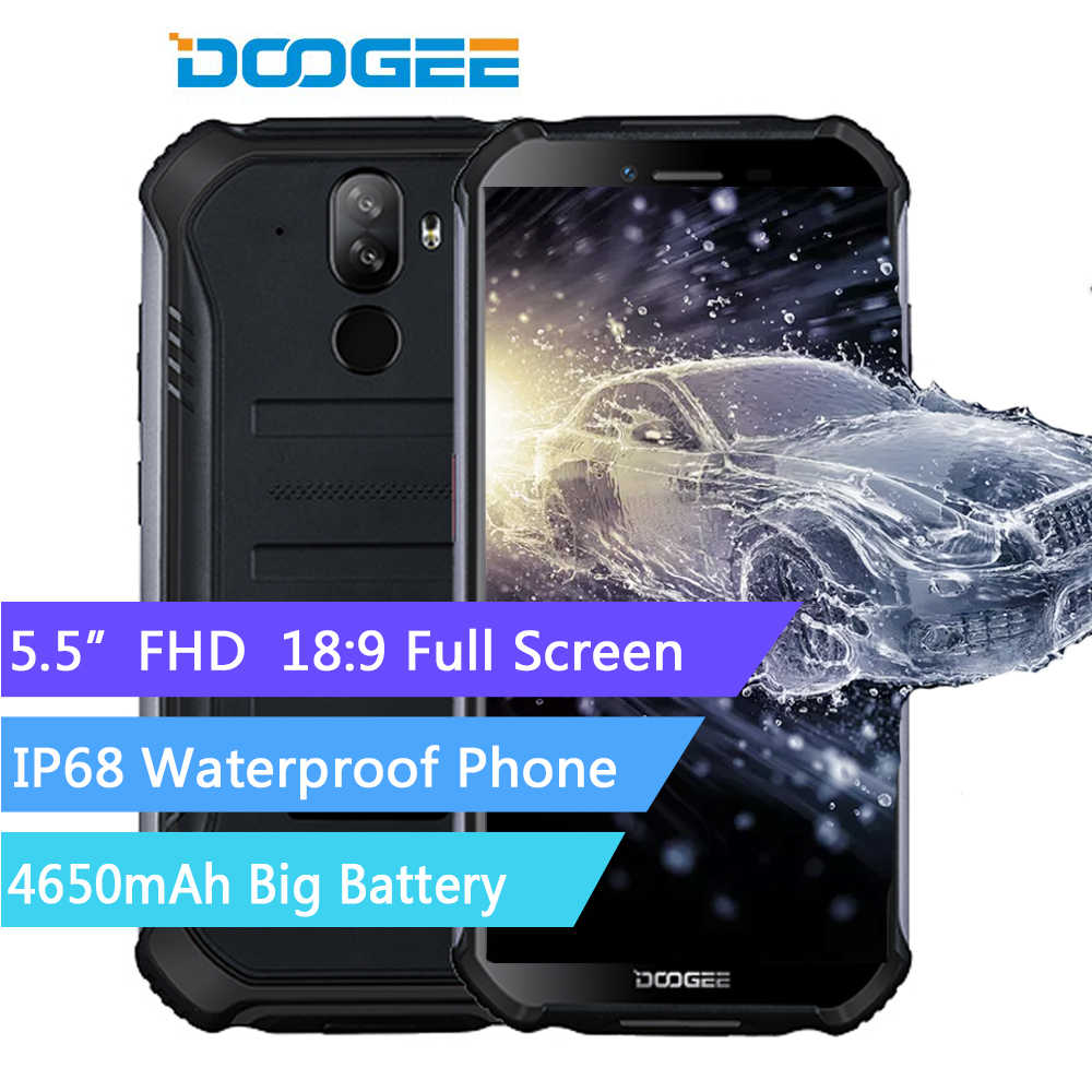 Doogee s40 áspero android 9.0 telefone móvel 5.5 polegada display 4650 mah mt6739 quad core 2 gb ram 16 gb rom 8.0mp ip68/ip69k 4 gnetwork