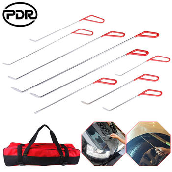 10 pcs/set PDR Tools Spring Steel Push Rods Paintless Dent Repair Hail Removal Tail Set image