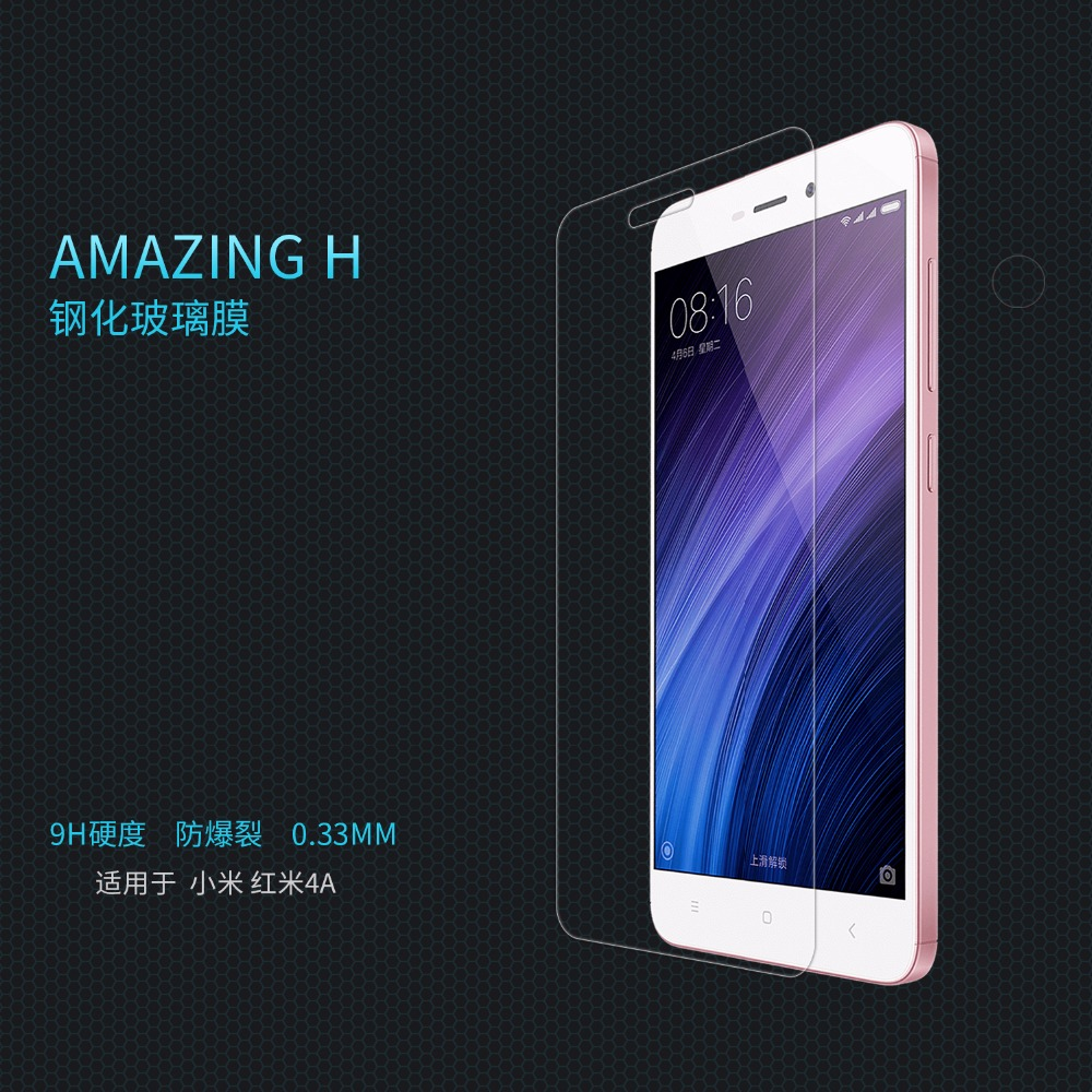 Xiaomi redmi 4A tempered glass film screen protector Nillkin glass film for Xiaomi redmi 4A Japan