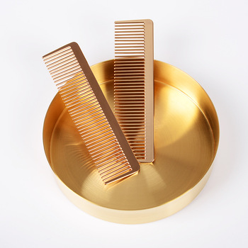 Nordic Style Gold Retro Metal Comb Hair Comb Professional Hairdressing Comb Hair Cutting Comb цена 2017