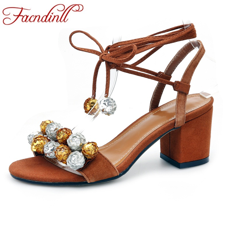FACNDINLL shoes 2018 new fashion summer genuine leather gladiator sandals for women high heels shoes woman dress party sandals facndinll shoes summer gladiator sandals for women new fashion genuine leather high heels peep toe shoes woman dress party shoes