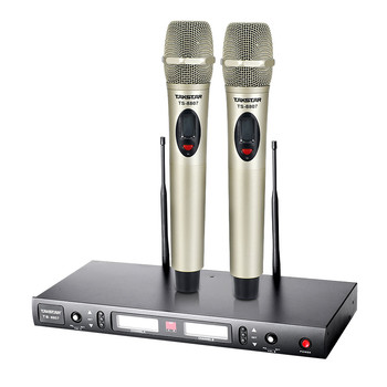 Takstar TS-8807 mikrofon bezprzewodowy UHF System FM 2 odbiornik i nadajnik KTV i do spotkań i występów na scenie Boutique Hot tanie i dobre opinie Mikrofon ręczny Karaoke mikrofon Dynamiczny Mikrofon Nadajnik Zestawy wireless Kardioidalna