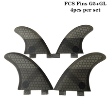 Surf FCS Fins G5+GL Honeycomb Fibre Surfboard Fin in Surfing 4 Per Set