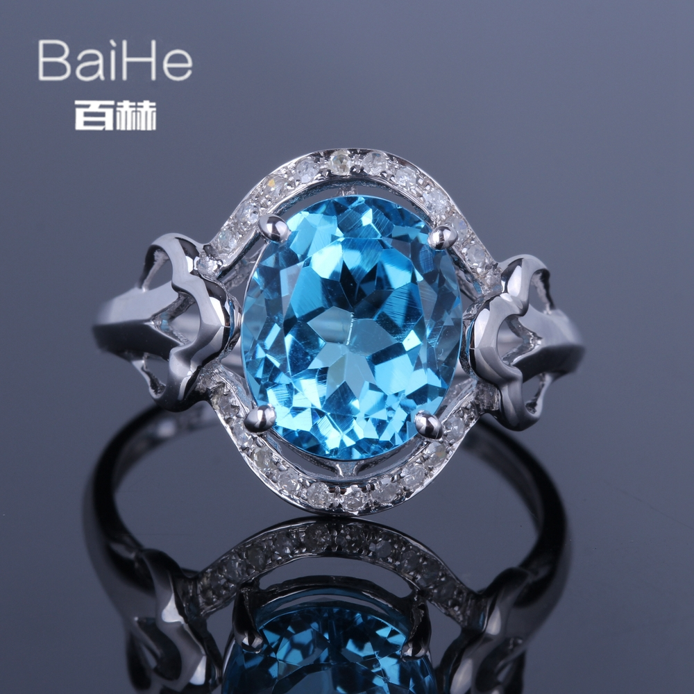 BAIHE Sterling Silver 925 4ct Certified Blue Flawless Oval cut 100% Genuine Blue Topaz Engagement Women Trendy Fine Jewelry RingBAIHE Sterling Silver 925 4ct Certified Blue Flawless Oval cut 100% Genuine Blue Topaz Engagement Women Trendy Fine Jewelry Ring