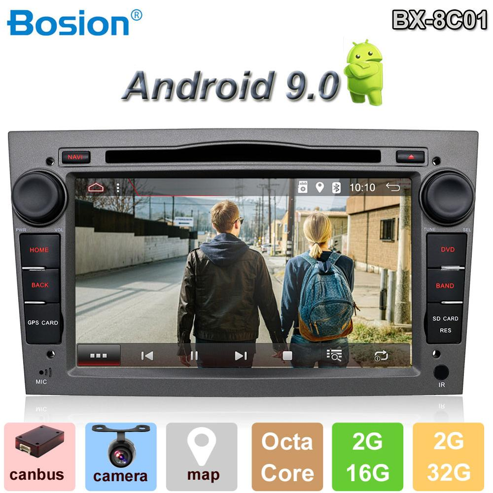 Bosion Android 9 0 2din car radio gps navi car dvd player for Opel astra vectra