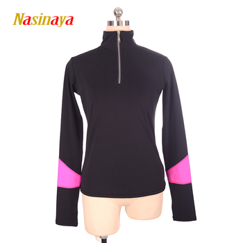 Customized Figure Skating T shirt Tops for Girl Women Adult Training Competition Patinaje Ice Skating Gymnastics warm fleece 2