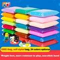 3 пакетов/комплект 24 Цветов DIY Воздух Сухой Цветной Глины Холодного Фарфора Play Тесто, дети Foam Clay Дети Интеллектуальные Пластилина