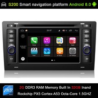 Android 8.0 system PX5 Octa 8 Core CPU 2G Ram 32GB Rom Car DVD Radio GPS Navigation for Audi A8 S8 1994 2003