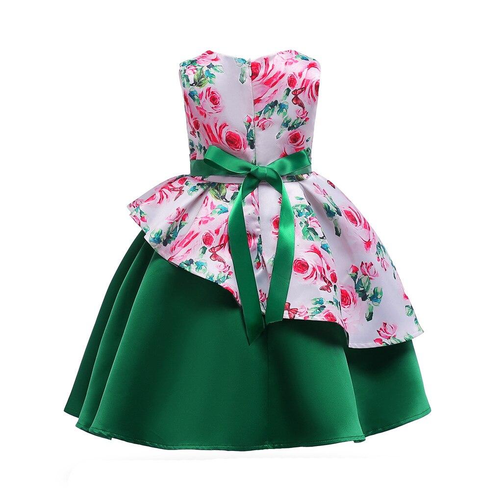 HIBYHOBY 2018 New Arrival Girl Bow Asymetryczna bez rękawów drukuj - Ubrania dziecięce - Zdjęcie 2