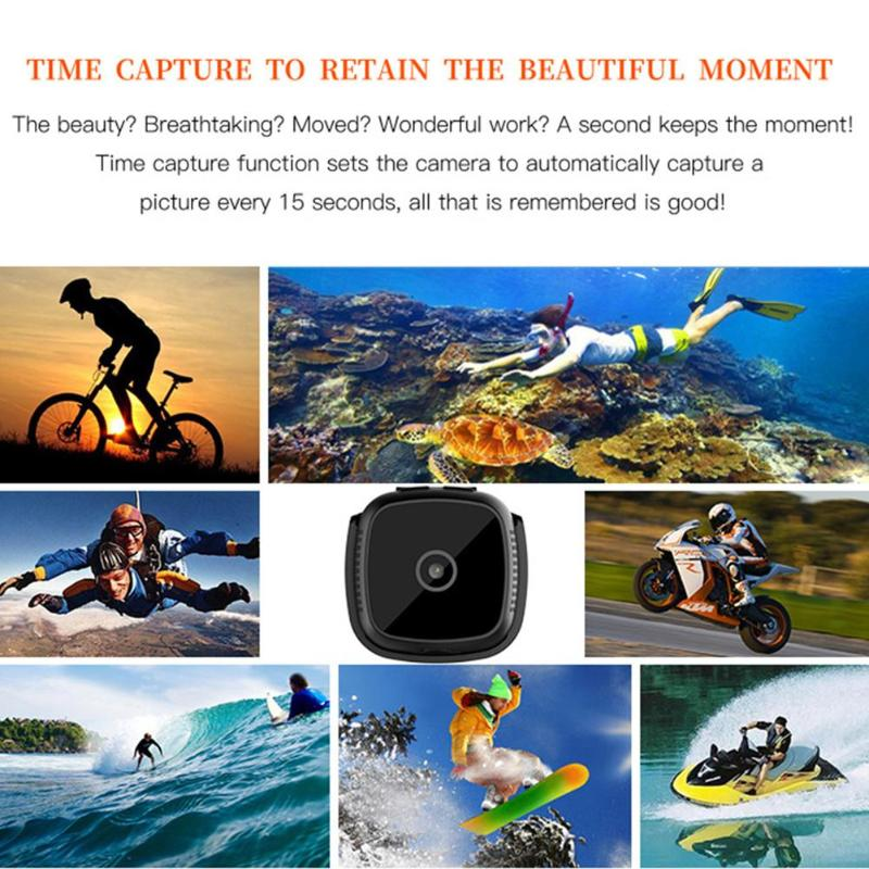 Image 4 - New C9 DV 1920x1080P HD 2MP Mini Camera Night Vision Camcorder Car Sport DV DVR Recorder with 6 high bright LED lights-in Mini Camcorders from Consumer Electronics