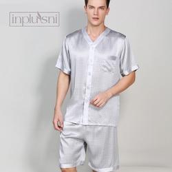 Inplusni In die sommer seide pyjama mann mulberry seide homewear pyjama set