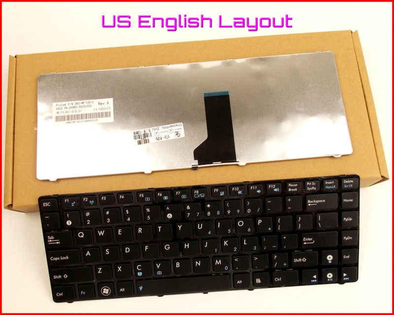 Tastatur UNS Englisch Version für ASUS U80 U80E U80V U81 A43S P31S UL30JT UL30AT U30JC UL30KU K42JZ K84HR Laptop MIT SCHWARZ RAHMEN