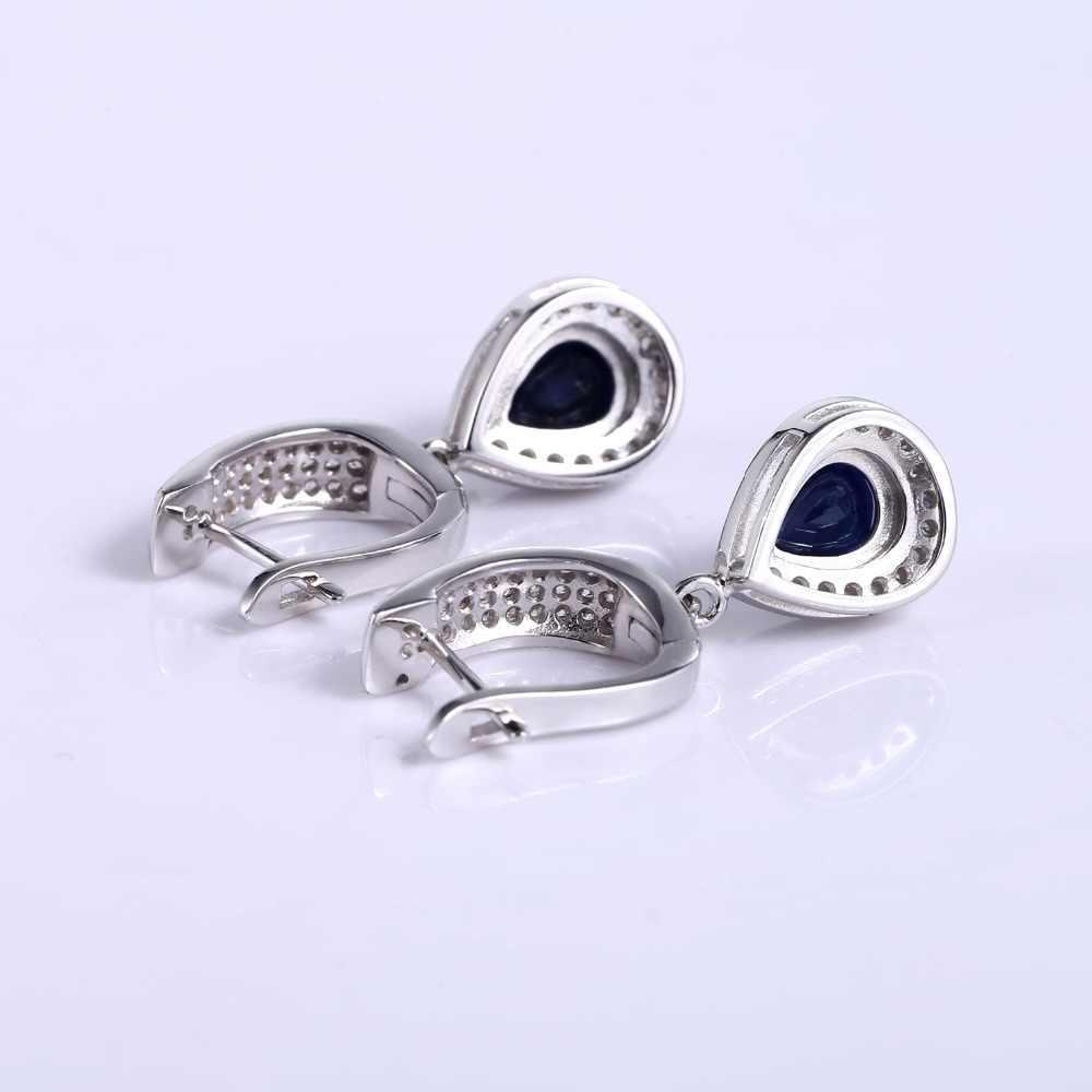 GEM'S BALLET 1.29ct натуральный драгоценный камень сапфир висячие серьги Твердые стерлингового серебра 925 Ювелирные украшения для женщин Свадебные