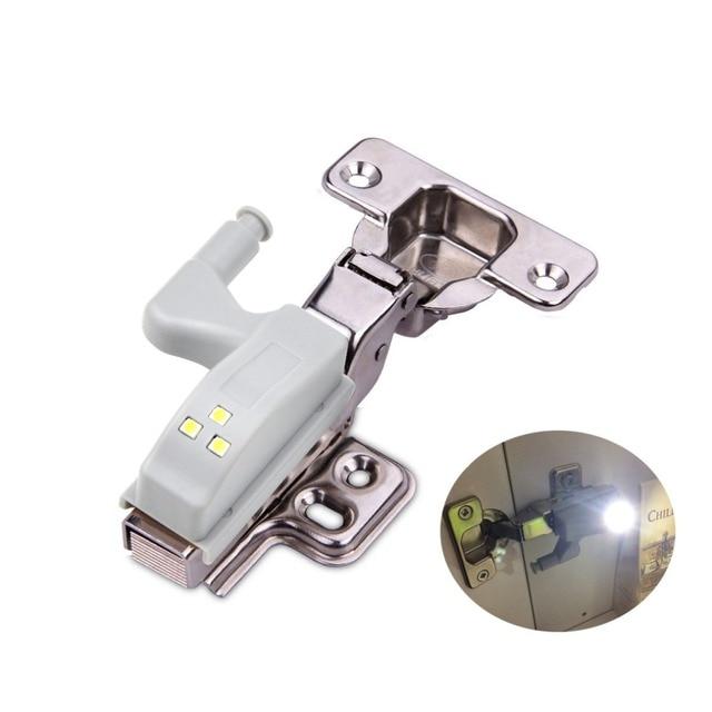 Universal Inner Hinge LED Sensor lamp 0.3W Cabinet Wardrobe Cupboard Door 3 LEDs Night light Auto Switch ON/OFF Bulb