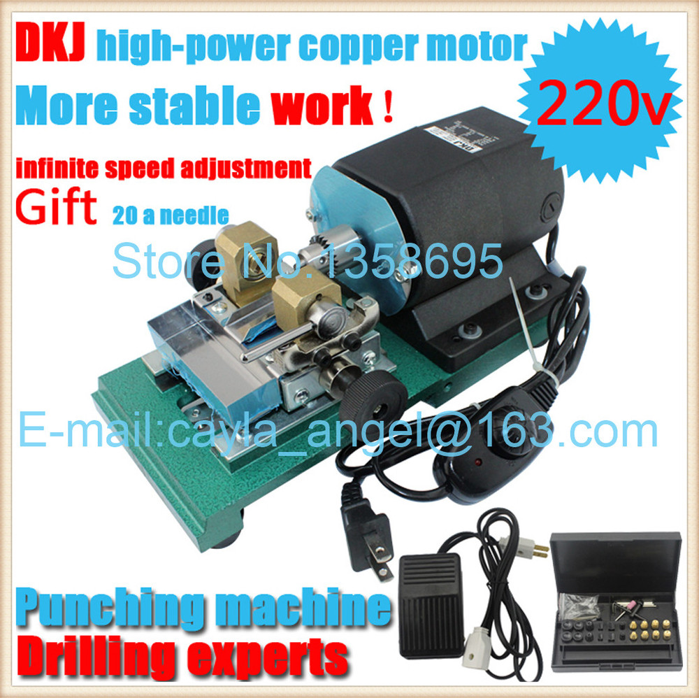 Adjustable Speed High-power Electric DKJ Punch Drilling Machine Hole Pearl Punching Machine Drill Press Jade Amber Punch Tool