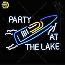 Sinal de néon para a festa no lago tubo de vidro decoração da sala cerveja janelas artesanato restaurante luz sinal lâmpadas anuncio luminoso lâmpadas