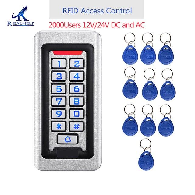 2000 Gebruikers Metalen Rvs Rfid Toegangscontrole Toetsenbord IP68 Waterdicht Outdoors Kaartlezer Security 12V/24V dc En Ac