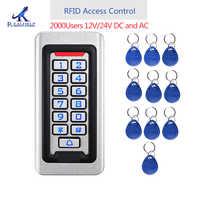 2000 benutzer Metall edelstahl RFID Access Control Keypad IP68 Wasserdichte Im Freien kartenleser sicherheit 12 V/24 V DC und AC