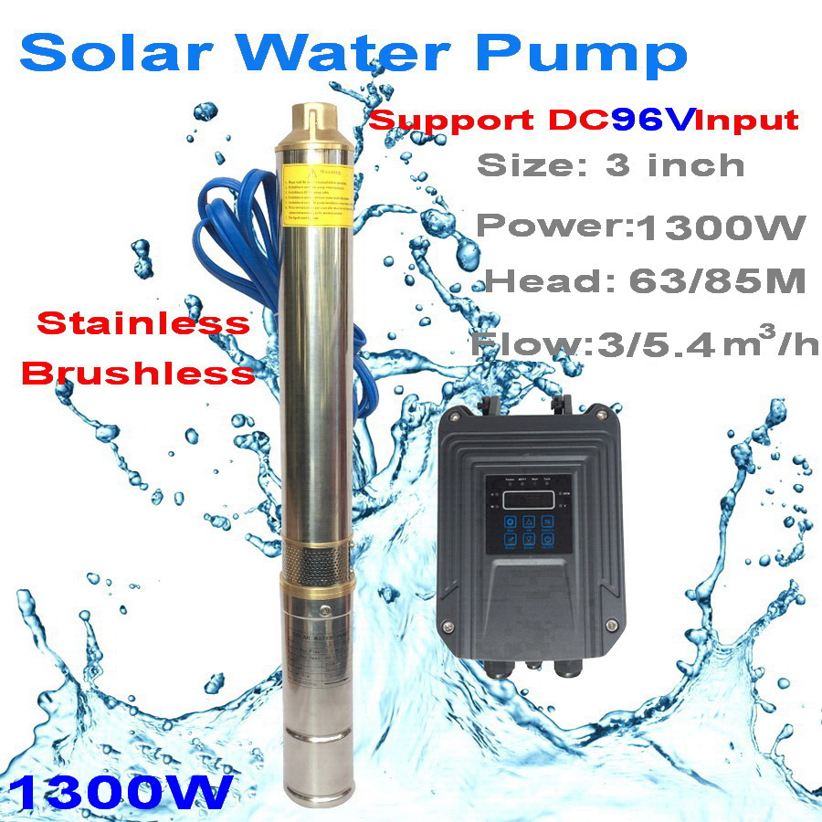 solar water pump high head 96v solar powered water pump for home/irrigation dc submersible water pump water deep well pump set cast iron self sucking centrifugal clean water pump deep well pump for home water supply irrigation garden watering pipeline