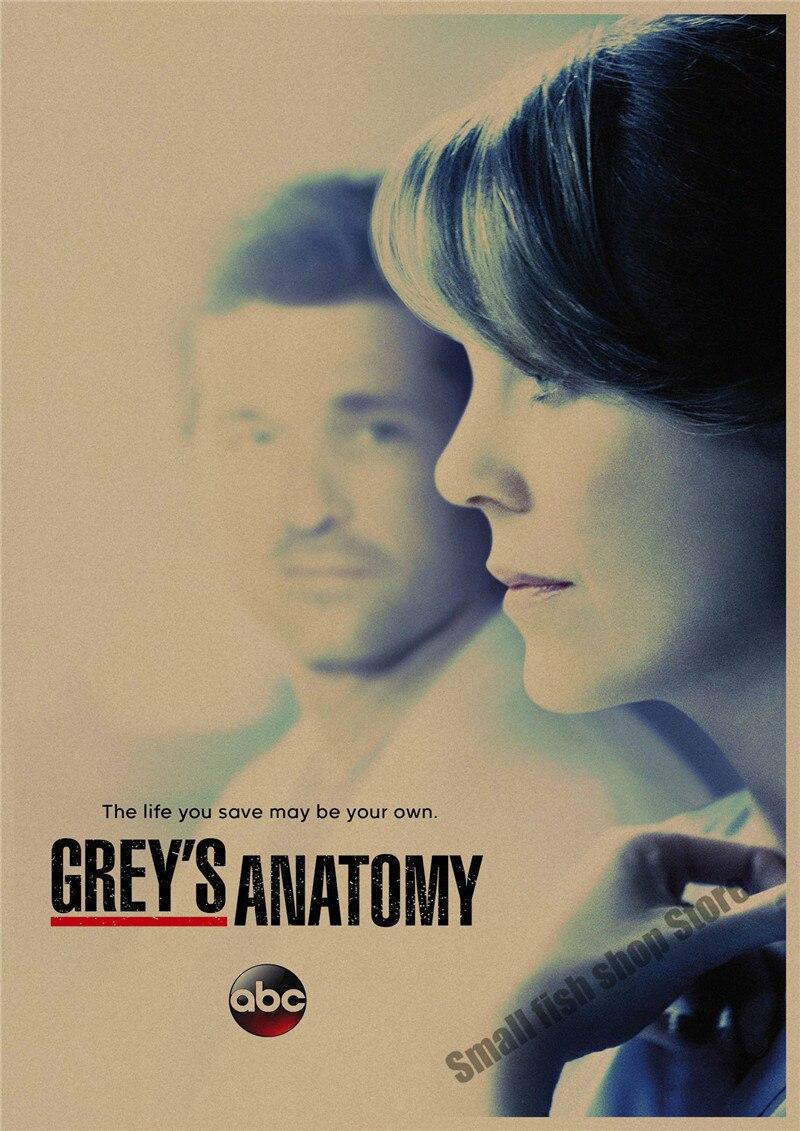 Anatomía de gray película retro póster retro Kraft paper bar ...