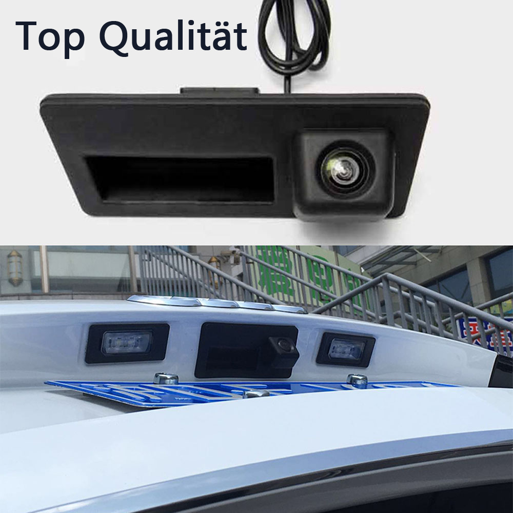 special trunk handle ccd car rear view camera reverse backup camera  vw passat tiguan golf
