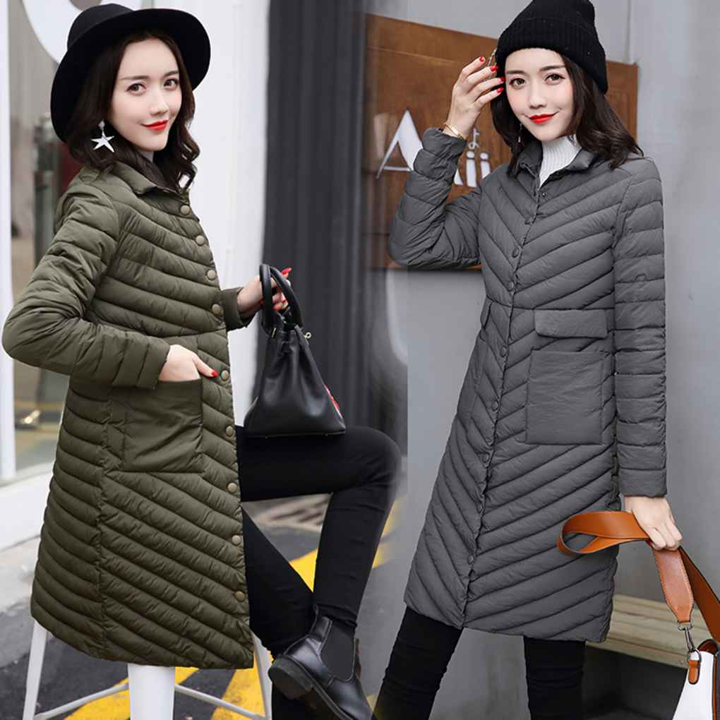 Latest Styles Women Ultra Light Thin Down Cotton Winter Jacket Parkas Single Breasted Plus Size Slim Thin Cotton Coat встраиваемая акустика speakercraft profile accufit ultra slim one single asm53101 2