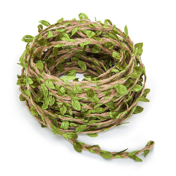100cm/lot Artificial flowers vine Ivy Rattan Garland Green Leaf for home wedding decor bridal accessories diy fake floristics