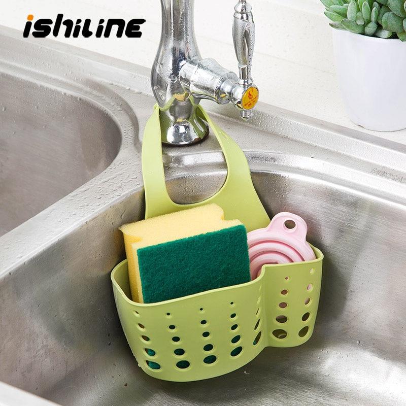 Sink Shelf Soap Sponge Drain Rack Bathroom Holder Kitchen Storage Suction Cup Kitchen Organizer Sink Kitchen Accessories