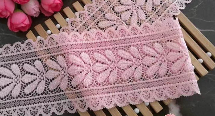 10m/lot 7.5cm Pink Embroidery Lace For Hair Accessories Curtain Sofa Belt Decorative Diy Accessories Trim Ribbon Fabric 1459 Lace