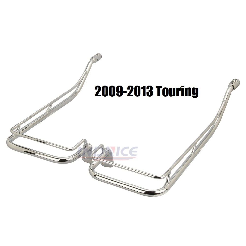 Motocicleta Alforje Guard Rails Twin Suporte cromado Para Harley Street Glide Touring Road King FLHR FLHT FLHX 2009-2013