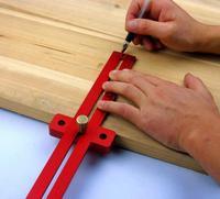 Aluminum Alloy Crossed Ruler Woodworking T Type Scriber Woodworking Ruler