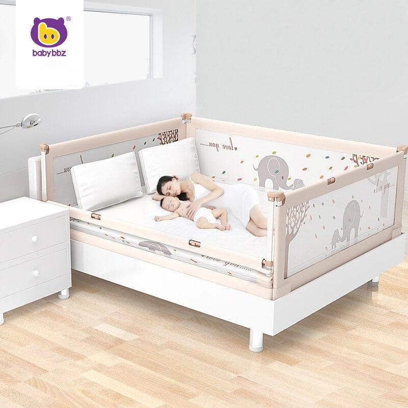 babybbz lit bebe parc bebe barriere de securite protection pour enfant renforcer lit rails garde en acier pur ascenseur vertical 1 5 2 m barriere de