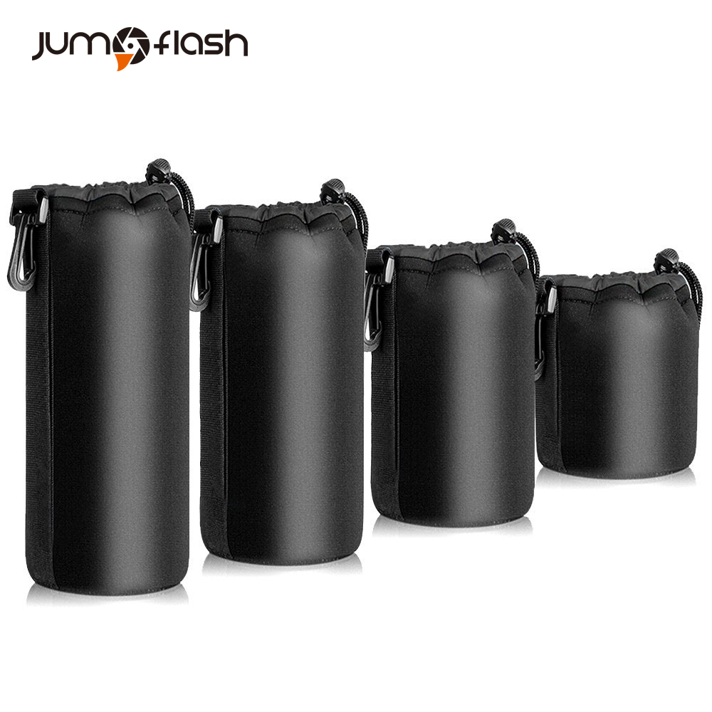 Jumpflash Camera case Lens Pouch Set Lens Case Small Medium Large and Extra Large For DSLR Camera Lens Bag Pouch Shockproof(China)