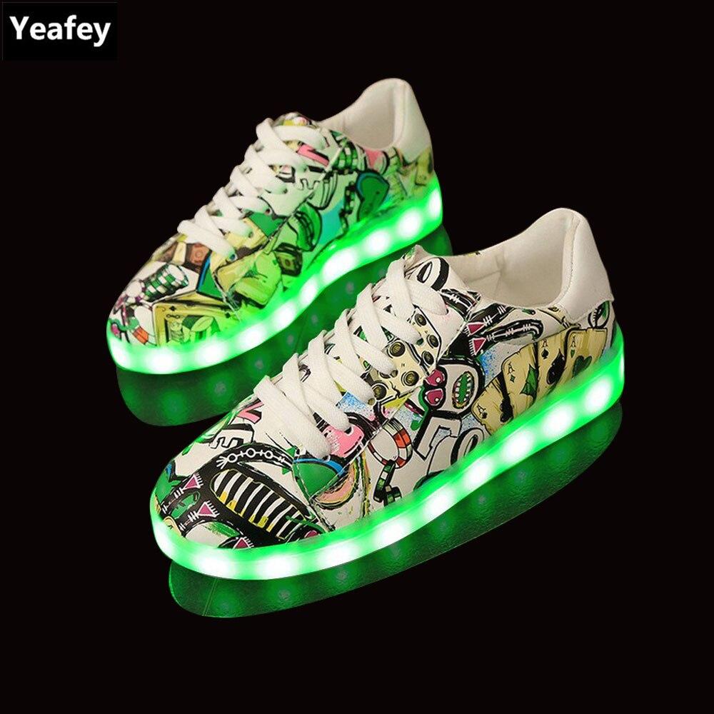 Yeafey Krasovki Luminous Sneakers for Boys Women Led Shoes Girls Slippers  Kids USB Luminous Children Shoes