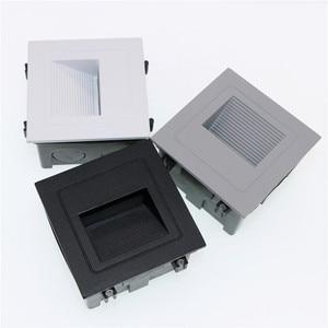 Image 5 - 10 stks 3 w led Trap Licht met Embedded box Aluminium Stap Lichten Outdoor Waterdichte IP65 LED Wall Lamp Footlight PRO 04