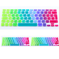 NEW  Euro version Russian Spanish colorful Silicone keyboard cover for macbook air 13 pro 13 15 17 retina rainbow Protector