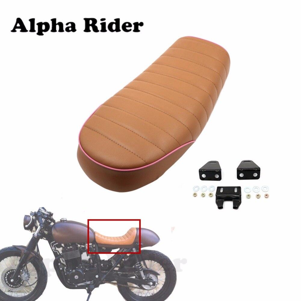 Pour Honda CB400SS 01-06 CB GB GL CL XL CM modifier rétro café Racer plat Brat siège Vintage selle coussin personnalisé moto
