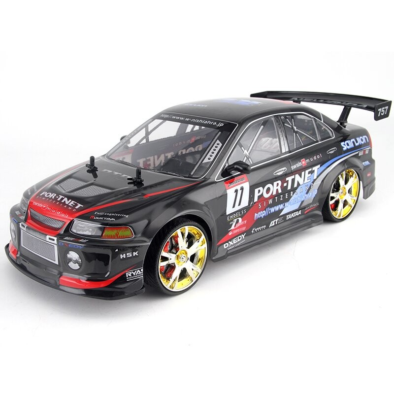 Large RC Car 1:10 High Speed Racing Car For Mitsubishi Championship 2.4G 4WD Radio Control Sport Drift Racing Electronic Toys